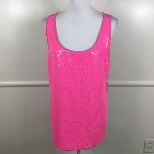 NEW Lane Bryant Pink Sequin Tank Top Womens 14/16